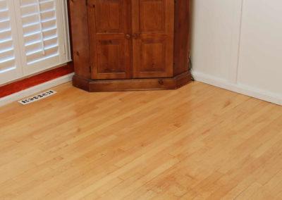 Maple floor after