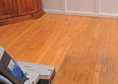 Maple floor before