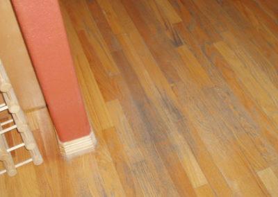 Oak floor before