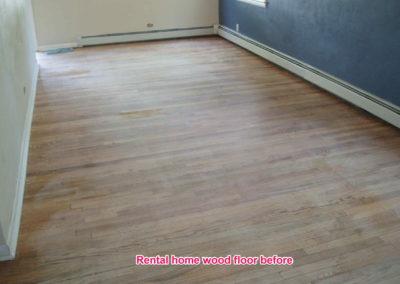 Rental wood floor before