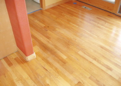 Oak floor after