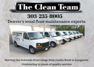 Denver's wood floor maintenance experts